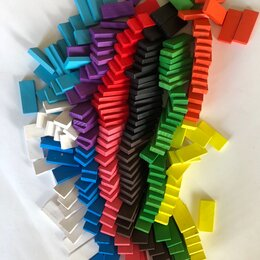 Настольные игры - Разноцветные блоки домино 100, 0
