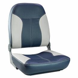 Походная мебель - Кресло складное мягкое SPORT с высокой спинкой, синий/серый, 0