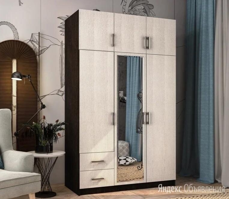 Шкаф 3х створчатый с ящиками BTS🔥 по цене 12538₽ - Шкафы, стенки, гарнитуры, фото 0
