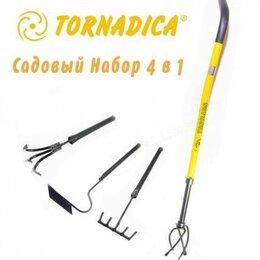 Тяпки и мотыги - Садовый набор 4в1 Tornado Tornadica mini ручной культиватор сорняков, 0