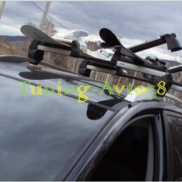 Мототехника и электровелосипеды - Крепление для лыж/сноубордов на высокие рейлинги (6 пар лыж/4 сноуборда, двухсто, 0