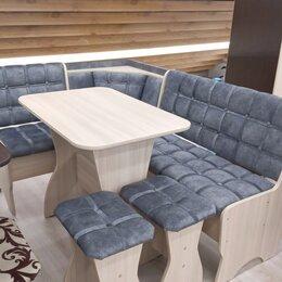 Столы и столики - Кухонный уголок Аленка-17 шимо светлый/велюр серый, 0