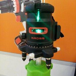 Измерительные инструменты и приборы - Лазерный уровень зелёный нивелир kross 5L, 0