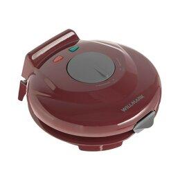 Сэндвичницы и приборы для выпечки - Электровафельница WILLMARK WM-103R, 750 Вт, тонкие вафли, антипригарное покры..., 0