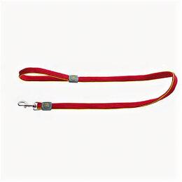 Поводки  - HUNTER поводок для собак MAUI 25/120 сетчатый текстиль красный , 0
