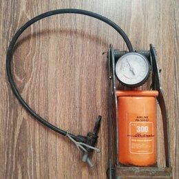 Прочие аксессуары  - Ножной насос для автомобиля с манометром airline pa-300-01, 0