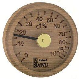 Датчики температуры, влажности и заморозки - Гигрометр, круглый с гравировкой, Кедр, 102-HD, 0