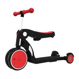 Самокаты - Xiaomi Детский самокат-беговел Xiaomi Bebehoo 5 в 1 Multifunction Stroller Red, 0