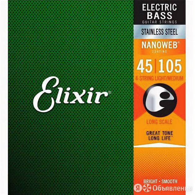 Elixir 45-105 Nanoweb Stainless Steel Medium Long Scale 14677 по цене 4190₽ - Аксессуары и комплектующие, фото 0