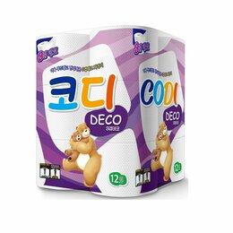 Бумажные салфетки, носовые платки - Особо мягкая туалетная бумага «Codi Pure Deco» (трехслойная, с тиснёным рисунком, 0