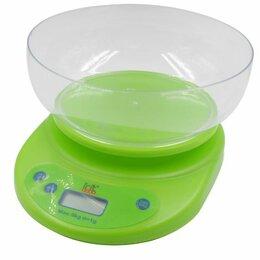Прочая техника - Весы кухонные электронные, макс. вес 5кг, цена деления 1гр (зел.) питание 2хАА, , 0