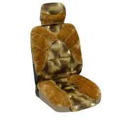 Прочие аксессуары и запчасти - Чехлы сиденья меховые искусственные 2 предм. SKYWAY ARCTIC Коричневый, 0