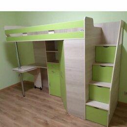 Кроватки - Отдам даром! кровать чердак со столом, шкафом, ящиками б/у, 0