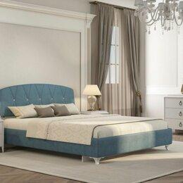 Кровати - Кровать мягкая Аделина 160*200 (бирюза)+матрас, 0