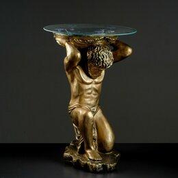 """Интерьерная подсветка - Хорошие сувениры Подставка - стол """"Титан"""" бронза  74 см ПОЛИСТОУН, 0"""