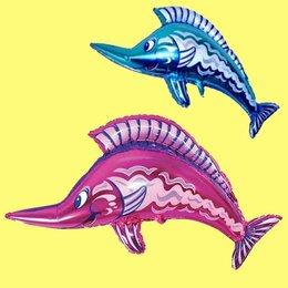 Краски - Шар фольга Рыба меч 46x28см, 0
