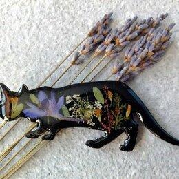 Броши - Брошь кошка смола, 0