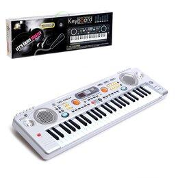 Детские музыкальные инструменты - Синтезатор «Играем музыку», с микрофоном, 49 клавиш, LED дисплей, радио, USB,..., 0