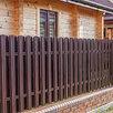 Металлический штакетник коричневый шоколад по цене 92₽ - Заборы, ворота и элементы, фото 3