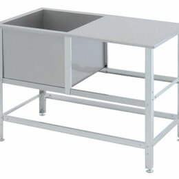Прочее оборудование - Ванна моечная ВСМС-С-1.530-1210.630-02, со столом 1210х630х870 мм, Атеси (Россия, 0