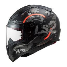 Спортивная защита - Шлем FF353 RAPID CIRCLE MATT TITANIUM FLUO ORANGE, 0