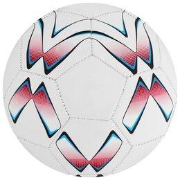 Мячи - Мяч футбольный, размер 5, 32 панели, PVC, 2 подслоя, машинная сшивка, 260 г, ..., 0