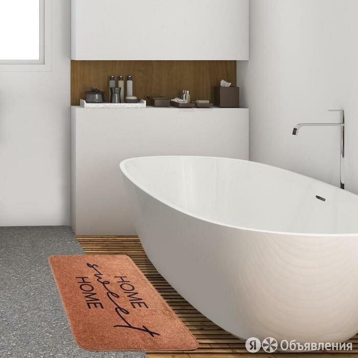"""Коврик для ванной Этель """"Home"""", 80х50 см, велюр по цене 1210₽ - Упаковочные материалы, фото 0"""
