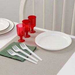 Наборы для пикника - Набор одноразовой посуды Доляна «Давай!», 3 персоны, тарелки десертные, рюмки..., 0