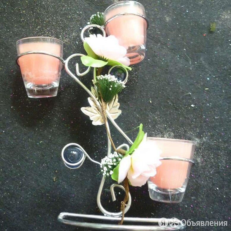 Подсвечник со свечами 4010 по цене 350₽ - Посуда, фото 0