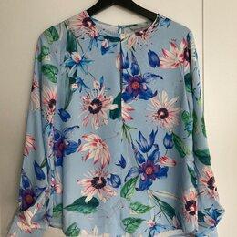 Блузки и кофточки - Блузка голубая с цветочным принтом XS H&M, 0