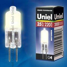 Лампочки - Лампа галогенная Uniel JC G4 220V 35W матовая JC-220/35/G4 FR, 0