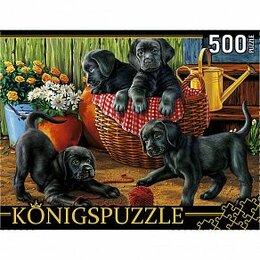 Пазлы - Пазлы 500 элем. Konigspuzzle «Щенки лабрадора», ХК500-6308, 0