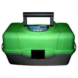 Сумки и ящики - Ящик рыболовный трехполочный Helios зеленый, 0