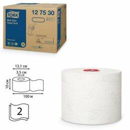 Туалетная бумага и полотенца - Бумага туалетная 100 м, TORK (Система Т6), комплект 27 шт., Advanced, 2-слойн..., 0