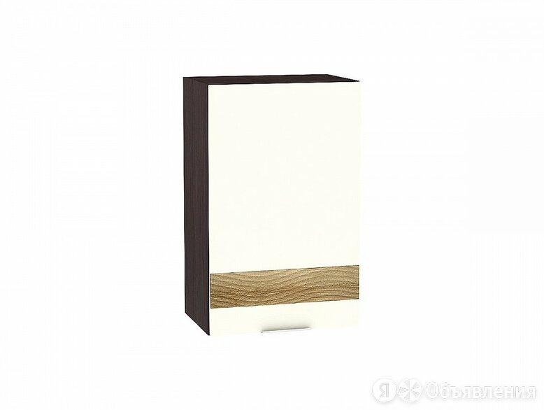 Шкаф верхний с 1-ой дверцей Терра DR В 450 Ваниль Софт-Венге по цене 2814₽ - Мебель для кухни, фото 0