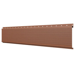 Стеновые панели - Линеарная потолочно-стеновая панель РИФЛЕНАЯ RAL8004 Терракотовый Стальной Б..., 0