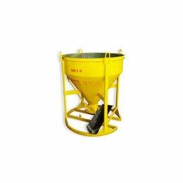 Железобетонные изделия - Бадья для бетона ббм-1,5 (1,5м3) с лотком и рукавом  колокольчик туфелька, 0