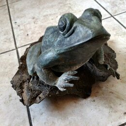 Статуэтки и фигурки - Скульптура лягушка бронза 32 cm, 0