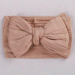 Головные уборы - Мягкие повязки на голову с бантом, 0