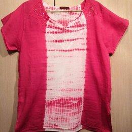 Футболки и топы - Футболка бело-розовая хлопковая, 0