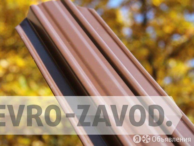 Штакетник металлический, С-образный, RAL 8017 по цене 66₽ - Заборы, ворота и элементы, фото 0