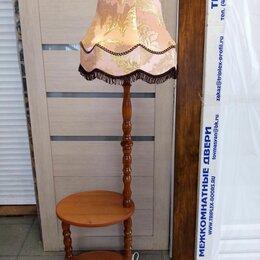 Торшеры и напольные светильники - Классический торшер со столиком, 0