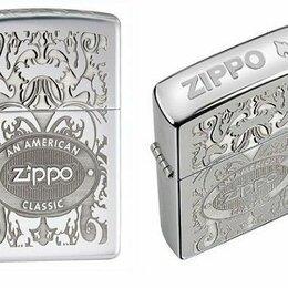 Пепельницы и зажигалки - Зажигалка Zippo 24751 American Classic Crown Stamp, 0
