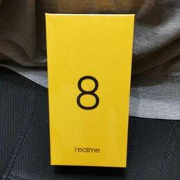 Мобильные телефоны - Realme 8 6/128gb черный новый запечатанный гарантия , 0
