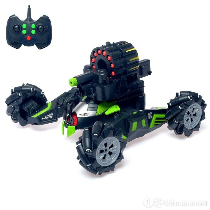 Радиоуправляемая машина-робот 'Кибертанк', стреляет мягкими пулями, световые ... по цене 4995₽ - Радиоуправляемые игрушки, фото 0