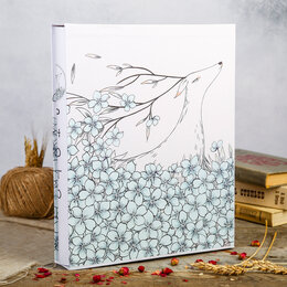 Фотографии, письма и фотоальбомы - Фотоальбом на 400 фото 9х13 см 'Цветочный олень' в коробке, 0