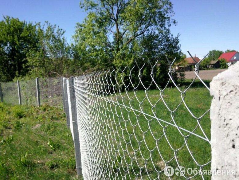 Забор из сетки рабица под ключ по цене 1000₽ - Заборы, ворота и элементы, фото 0