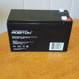 Аккумуляторные батареи - Аккумулятор свинцово-кислотный ROBITON 12В 7Ач , 0