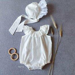 Крестильная одежда - Боди-пухляш из батиста, 0