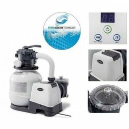 Фильтры, насосы и хлоргенераторы - 26648 Интекс Песочный фильтр-насос для бассейнов 8000л/ч, 0